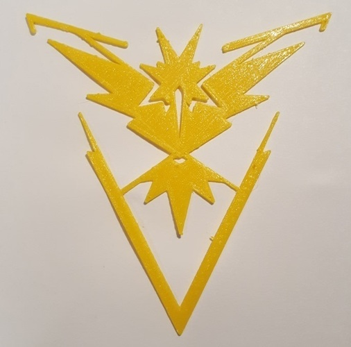 Pokemon Go Team Decals and Badges 3D Print 93754
