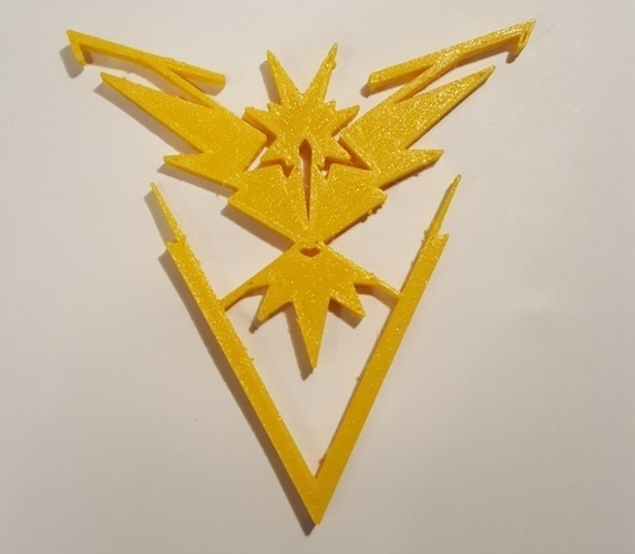 Pokemon Go Team Decals and Badges 3D Print 93755