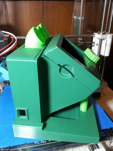 rumba large lcd diplay case remix  and base added 3D Print 93813