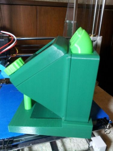 rumba large lcd diplay case remix  and base added 3D Print 93818