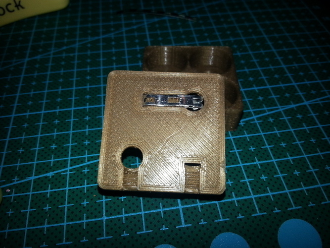 Battery holder 4xAA Square 3D Print 94083