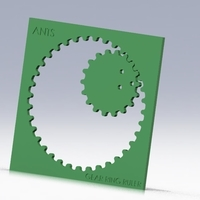 Small GEAR RING RULER www.antsdesigntm.com  ANTS 3D only US$200 3D Printing 94235