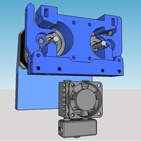 Small Amadon's Double Bowden Direct Drive Extruder 1.75mm filament 3D Printing 94281