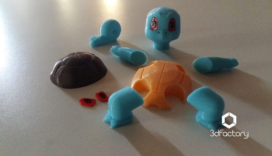 Pokemon Go Squirtle  3dFactory Brasil 3D Print 94319