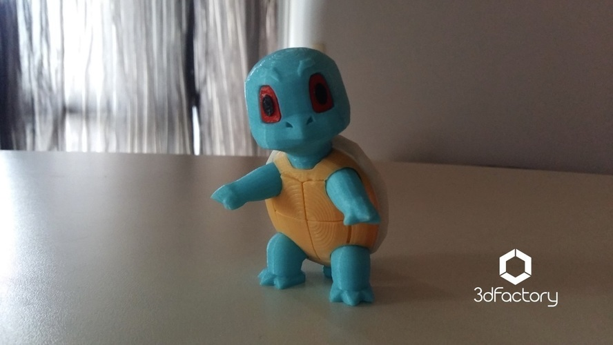 Pokemon Go Squirtle  3dFactory Brasil 3D Print 94320