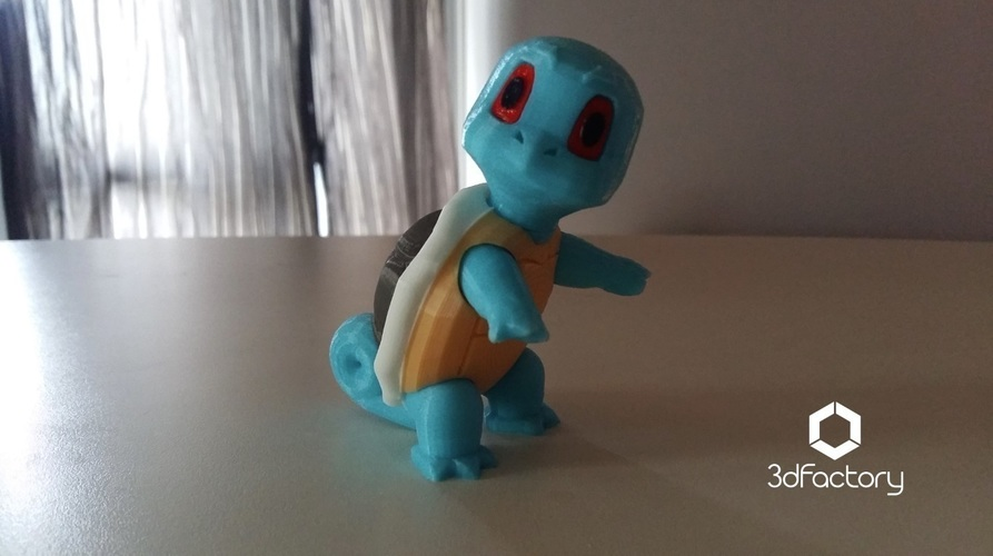 Pokemon Go Squirtle  3dFactory Brasil 3D Print 94321