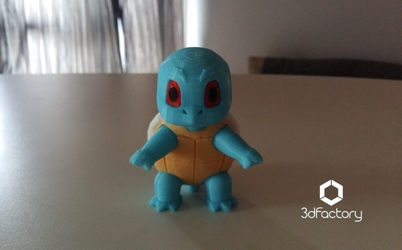 Pokemon Go Squirtle  3dFactory Brasil 3D Print 94323