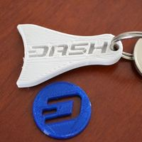 Small Dash keychain / shopping card coin 3D Printing 94594