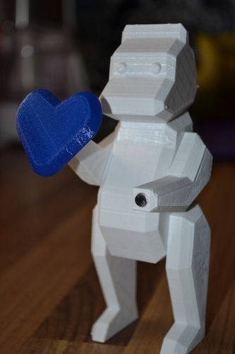Magnetic Low Poly Bear 3D Print 94621