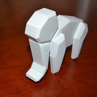 Small Magnetic Low Poly Elephant 3D Printing 94624
