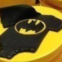 Small Batman Babygrow Cupcake Decoration 3D Printing 94670