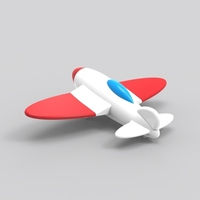 Small 3D Spitfire plane 3D Printing 94674