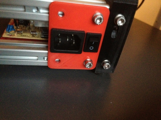 PSU jack and switch panel for MendelMax 3D Print 94773