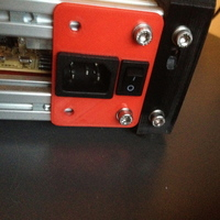 Small PSU jack and switch panel for MendelMax 3D Printing 94773