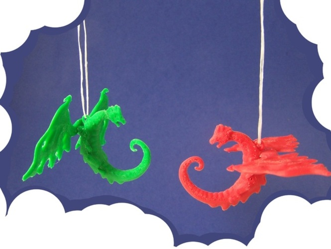 Dragon Ornament 3D Print 948