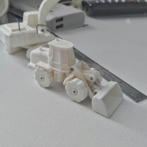Medium Easy to print Front Loader Model Kit 3D Printing 94873