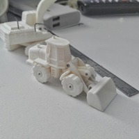 Small Easy to print Front Loader Model Kit 3D Printing 94873