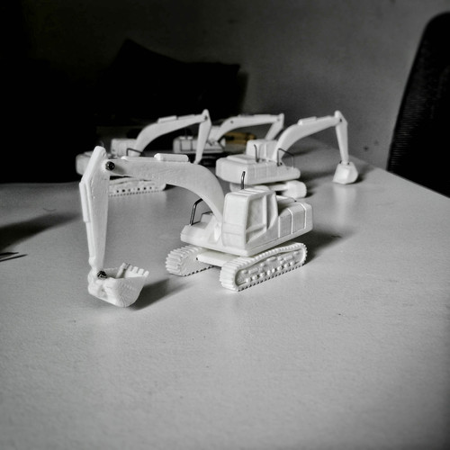 Easy to print Excavator Model Kit 3D Print 94892