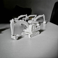 Small Easy to print Excavator Model Kit 3D Printing 94892