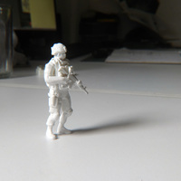 Small Modern Soldier Escale: 1/24 3D Printing 95000