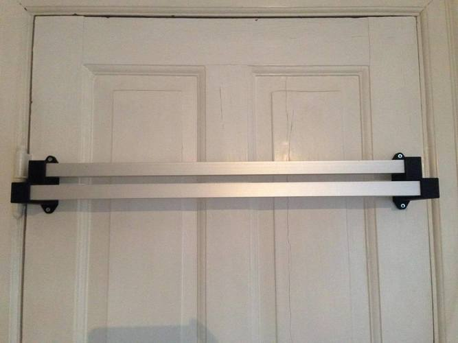 Aluminum Extrusion Towel Rack with 3D printed Brackets 3D Print 95041