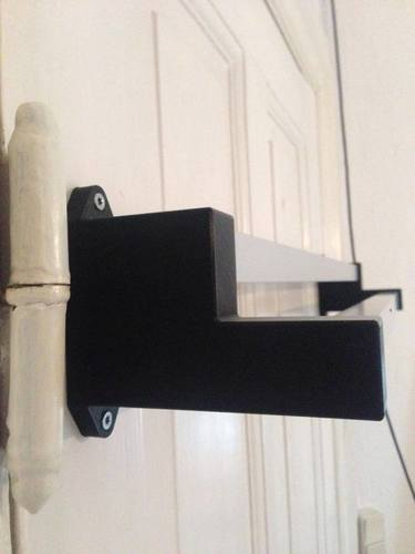 Aluminum Extrusion Towel Rack with 3D printed Brackets 3D Print 95042