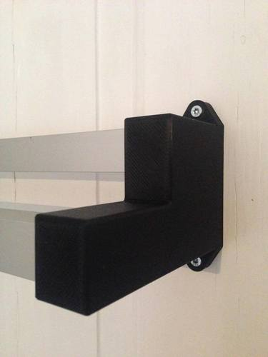Aluminum Extrusion Towel Rack with 3D printed Brackets 3D Print 95044