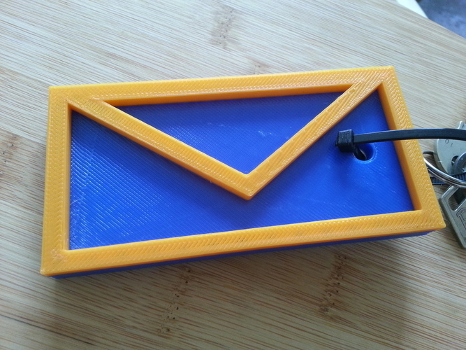 Letter keychain for your mailbox key! 3D Print 95078