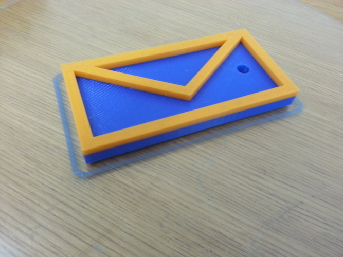 Letter keychain for your mailbox key! 3D Print 95079