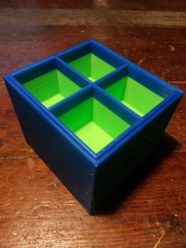 Breadbox organization system with different size boxes for screw 3D Print 95095