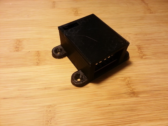Mountable case with lid for 2 channel relay board 3D Print 95104