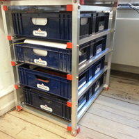 Small Drawer system with breadboxes 3D Printing 95111