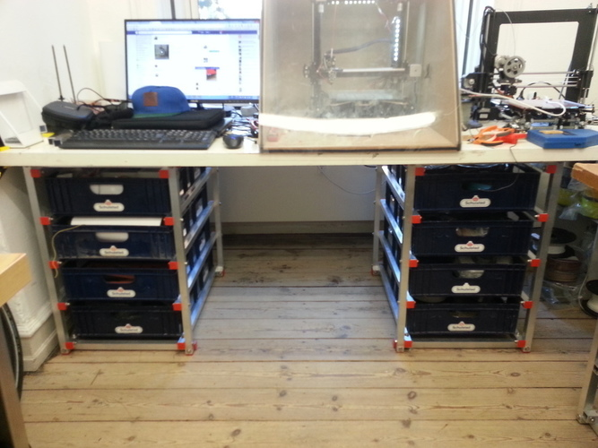 Drawer system with breadboxes 3D Print 95114