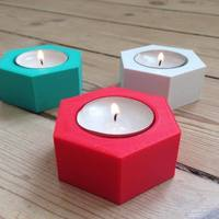 Small Hexagonal Candle Holder 3D Printing 95123