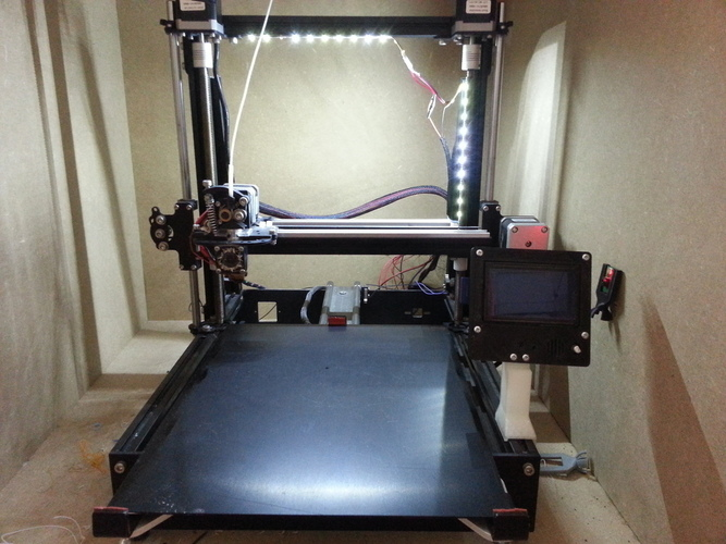 Simple LCD holder for Mendelmax 2 3D Print 95130