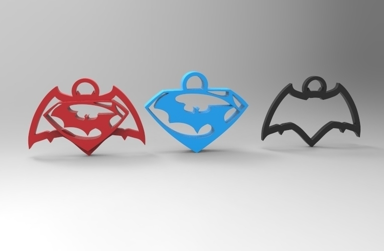batman vs superman keychain/necklace/earrings 3D Print 95289