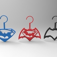 Small batman vs superman hangers 3D Printing 95291