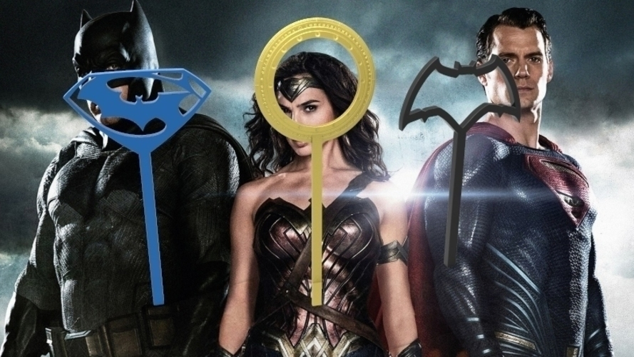 batman vs superman bubble wands 3D Print 95313