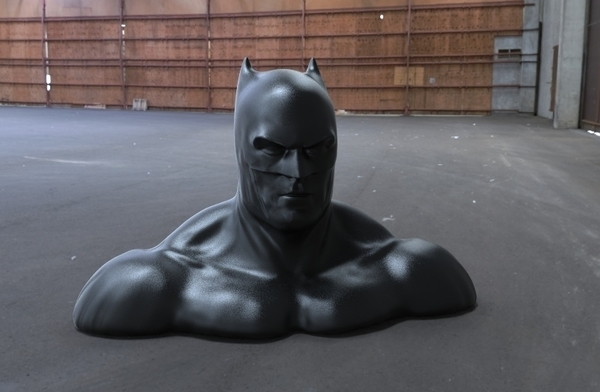 Medium batman bust v2 3D Printing 95319