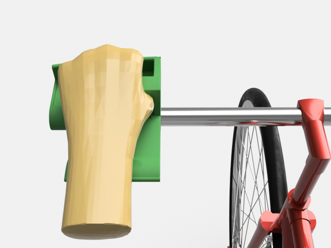 Helper grip for bicycle. 3D Print 95443