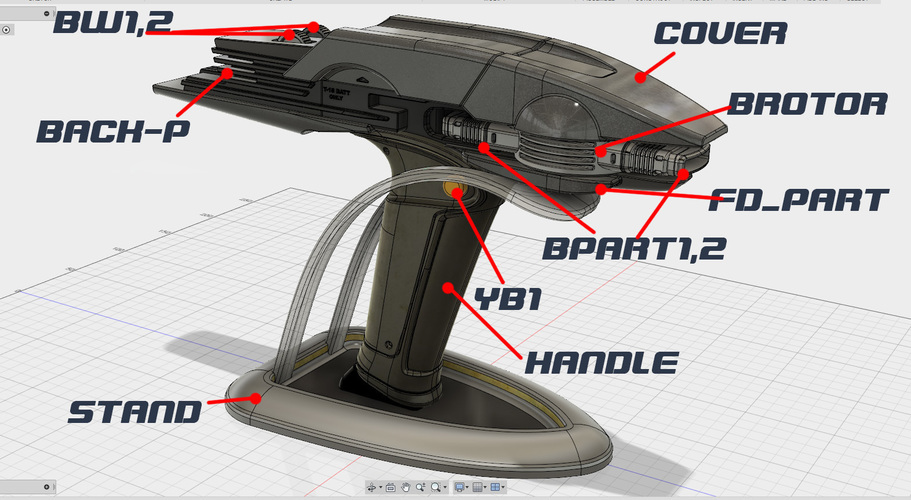 Star Trek Beyond Type-1B Phaser 3D Print 95488