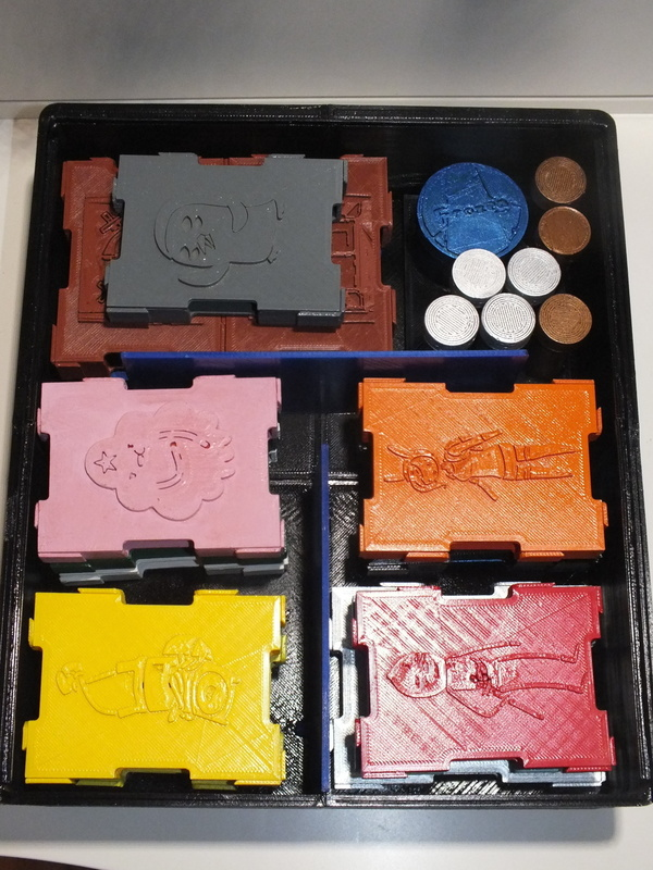 Medium Adventures times card wars Organizers 3D Printing 95544