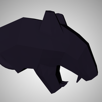 Small panther head keyring 3D Printing 95558
