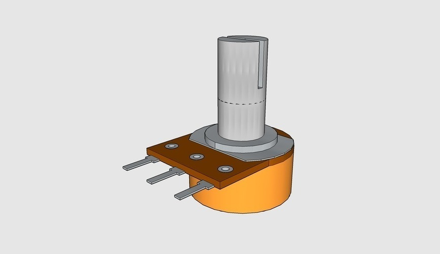 Potentiometer B10K 3D Print 95566