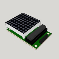 Small Max7219C_Led_board 3D Printing 95574