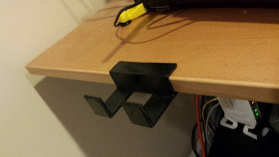 Desk Edge Holder 3D Print 95610
