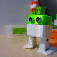 Small Otto DIY - build your own robot 3D Printing 95787
