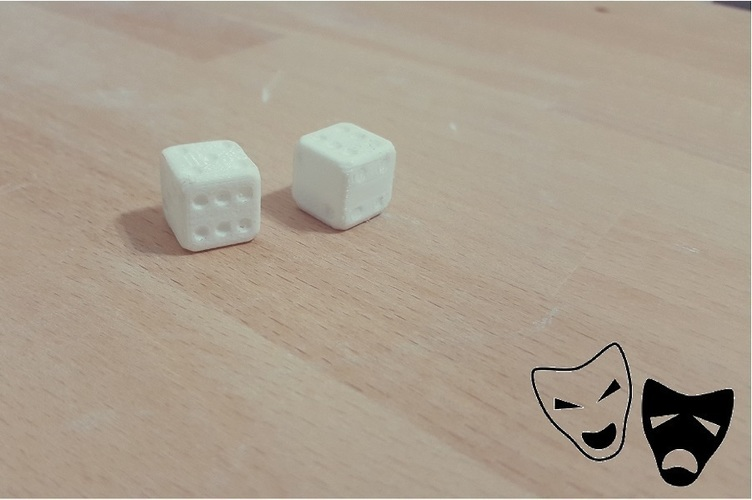 3D Cheating dice 3D Print 95803