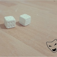 Small 3D Cheating dice 3D Printing 95803