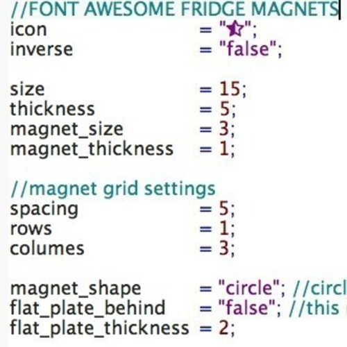 Fridge magnets with font awesome and openScad 3D Print 95942